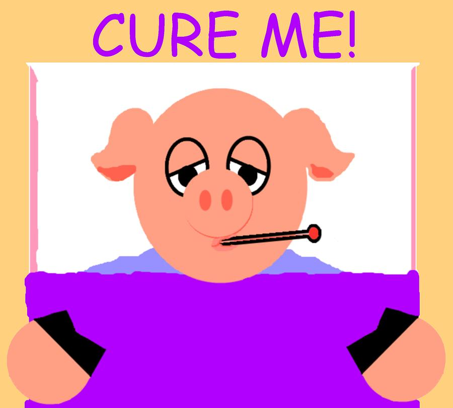 Pig Digital Art - Cure Me by Pharris Art