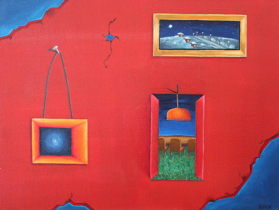 Worlds Painting - Curiosity by Margarita Gokun