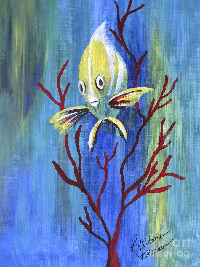 Fish Painting - Curious  by Barbara Petersen