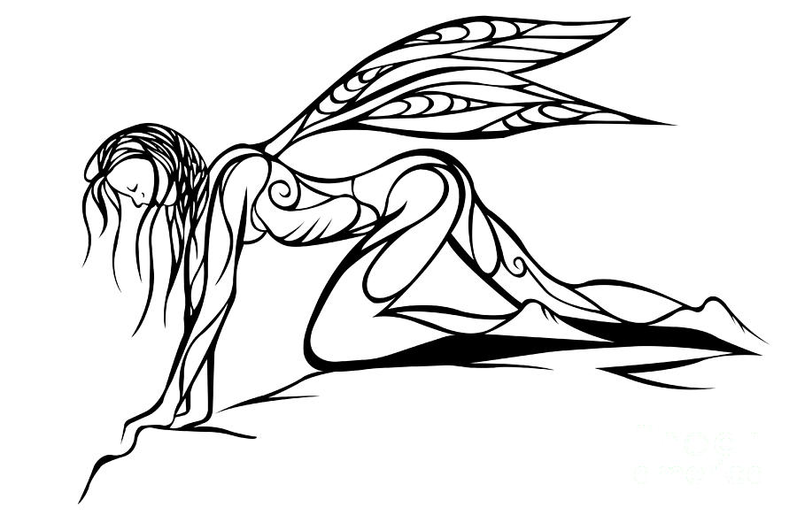 Curious Fairy 1 Digital Art