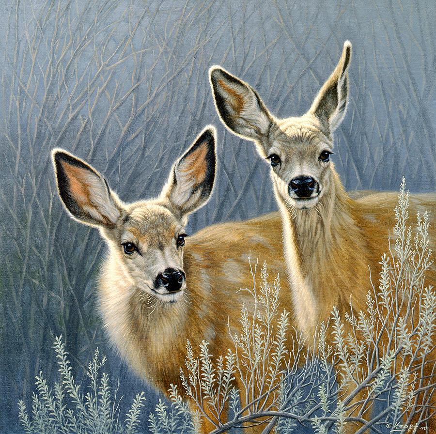 Wildlife Painting - Curious Pair by Paul Krapf