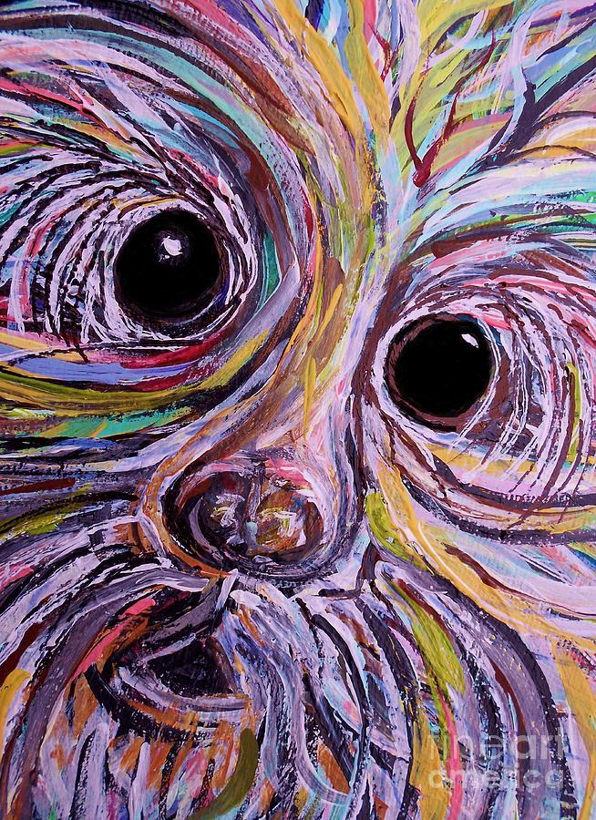 Schnauzer Painting - Curious Schnauzer by Eloise Schneider