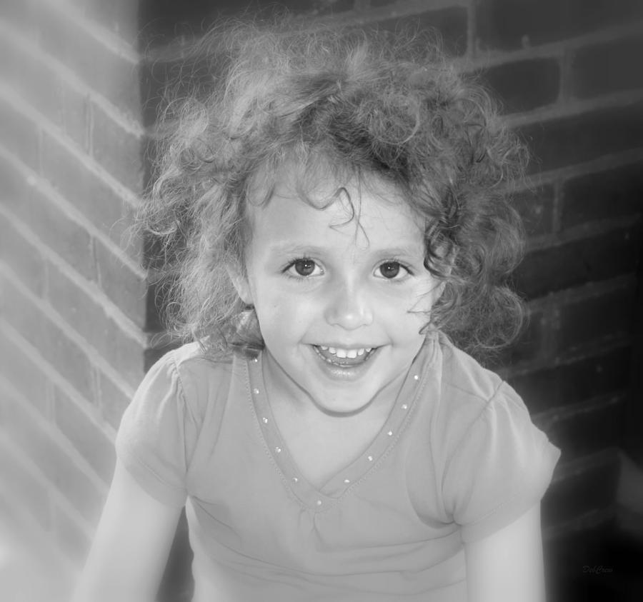 Girl Photograph - Curly by Deborah  Crew-Johnson