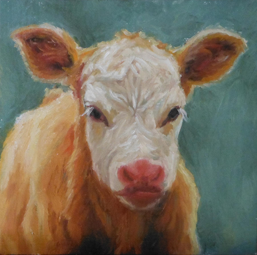 Calf Painting - Curly Sue by Tahirih Goffic