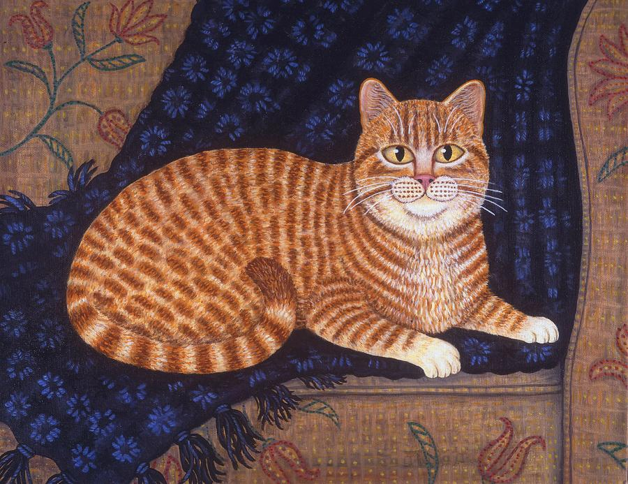 Pets Painting - Curry The Cat by Linda Mears