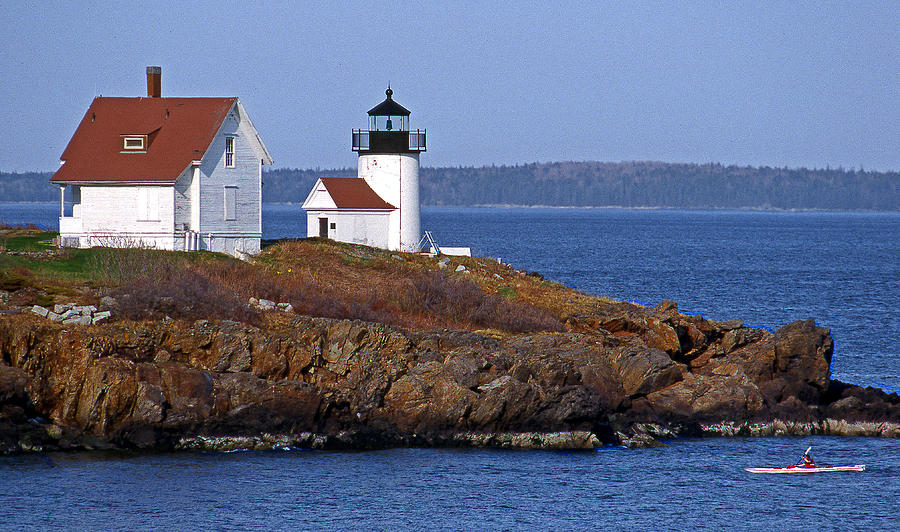 Me Photograph - Curtis Island Lighthouse by Skip Willits