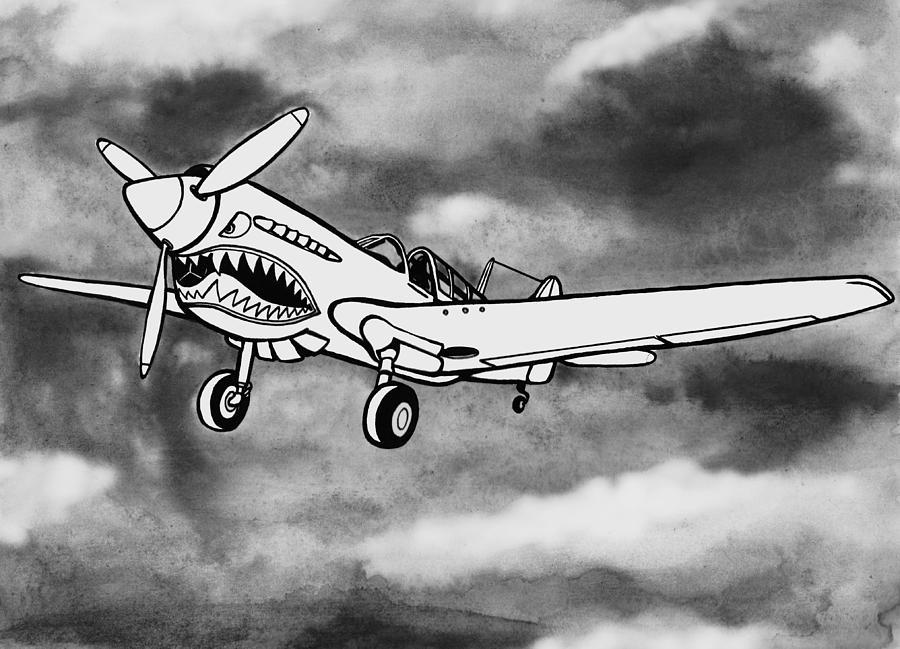 Warhawk Mixed Media - Curtiss P-40 Warhawk 2 by Scott Nelson