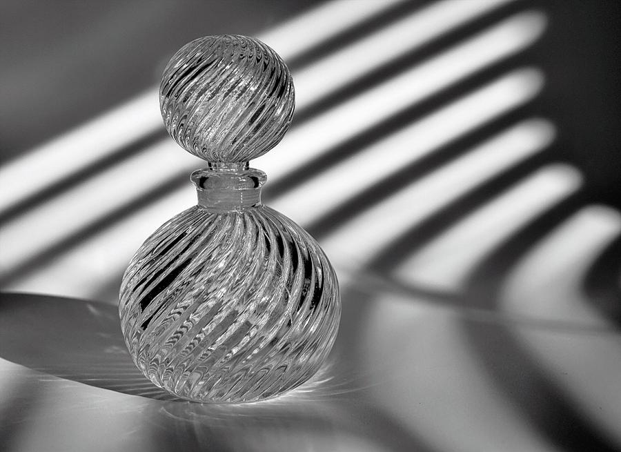 Glass Photograph - Curvatures 2...black And White by Tom Druin