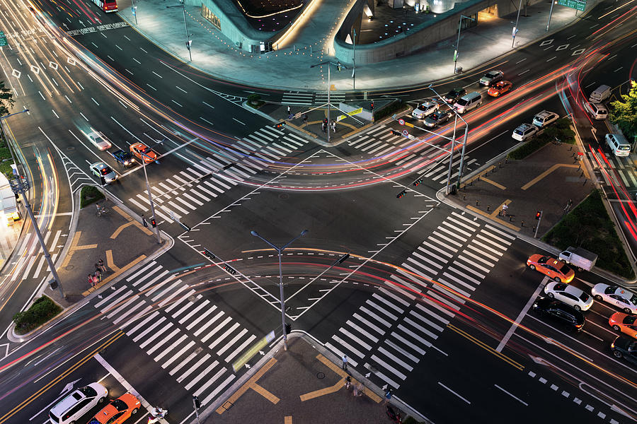 Curve Trail At Junction Seoul Photograph by Natthawat