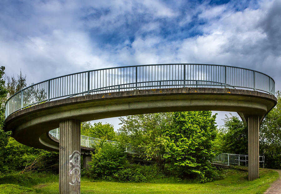 Bridge Photograph - Curved Bridge. by Gary Gillette