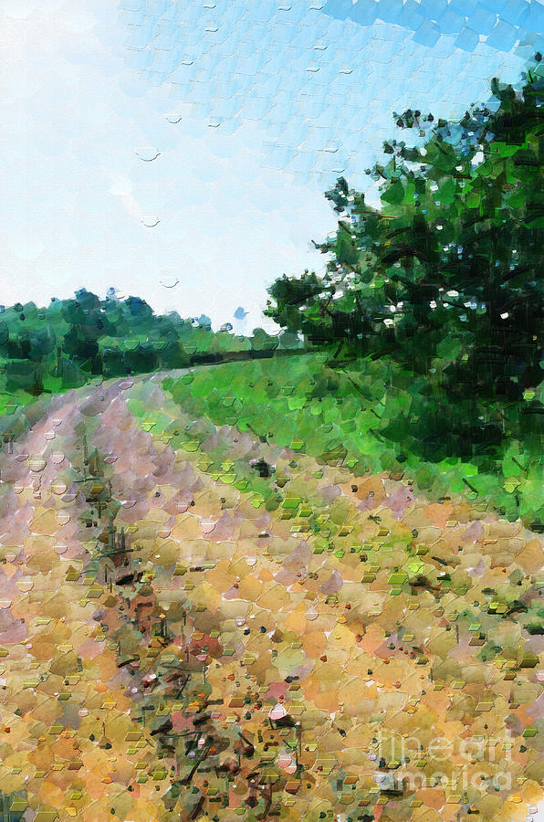Ethiopia Painting - Curved Road Painting by George Fedin and Magomed Magomedagaev