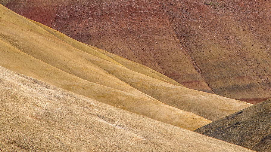 Painted Hills Photograph - Curves And Colors by Joe Hudspeth