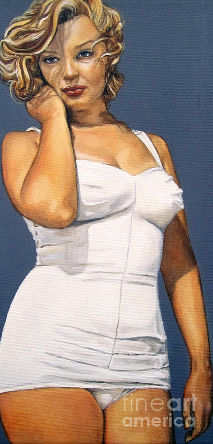 Portrait Painting Painting - Curvy Beauties - Marilyn Monroe by Malinda  Prudhomme