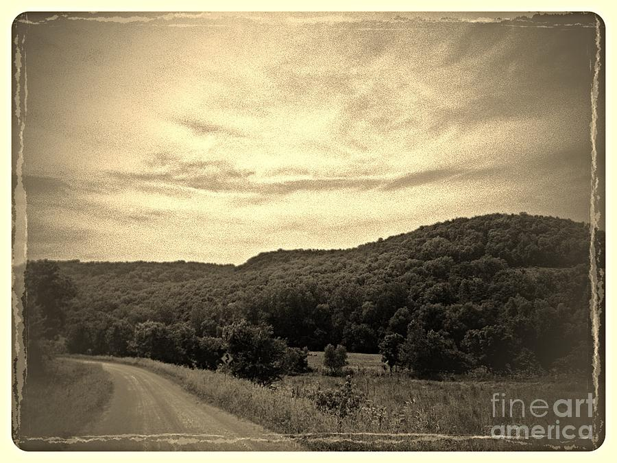 Iowa Photograph - Curvy Road To Nowhere by Garren Zanker