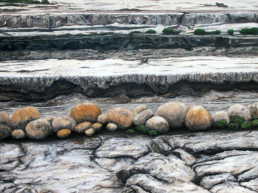 Australia Painting - Cushion Bush Dam by Lyndsey Hatchwell