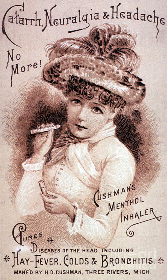 Science Photograph - Cushmans Menthol Inhaler-headache Cure by Science Source