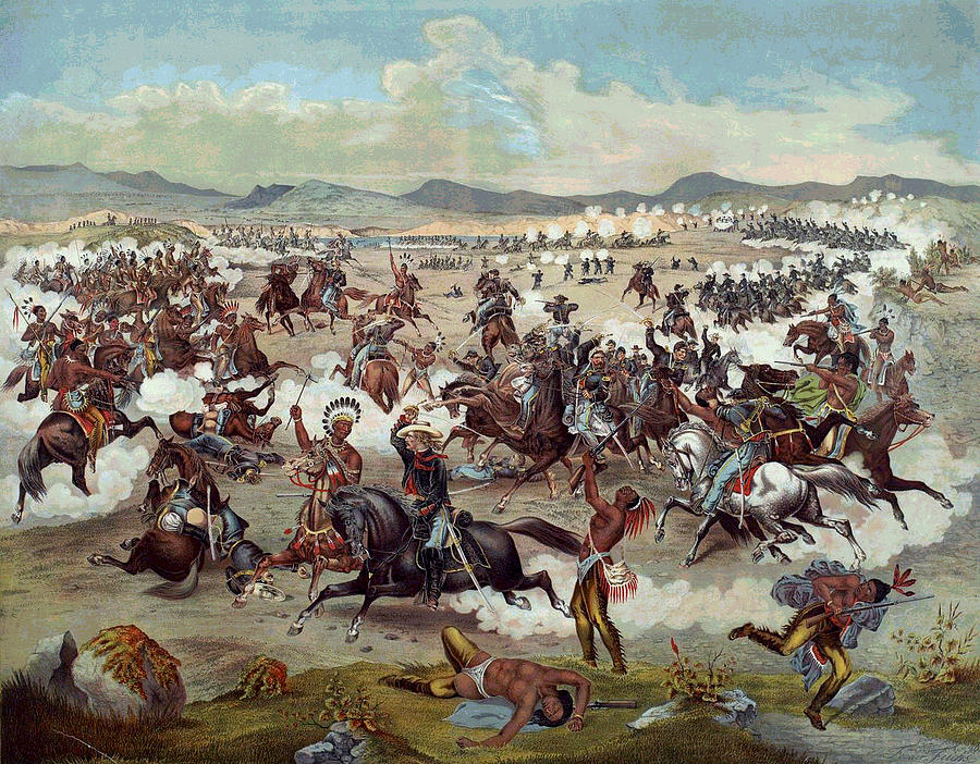 George Armstrong Custer Digital Art - Custers Last Charge by Unknown