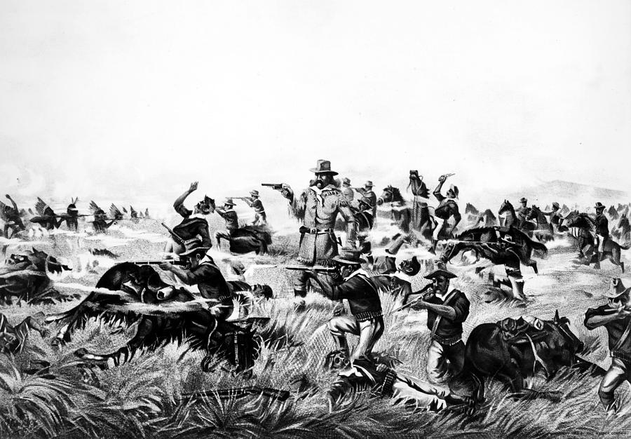 1876 Painting - Custers Last Fight, 1876 by Granger