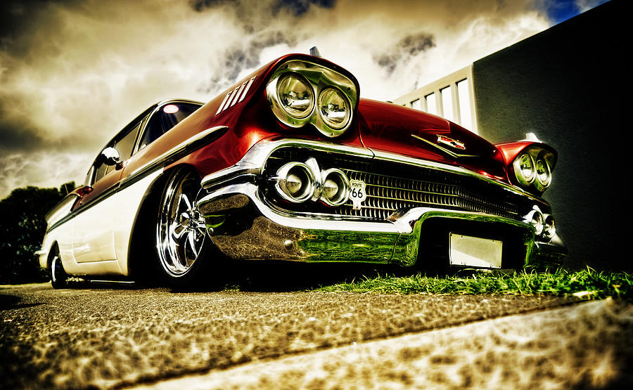 Chevrolet Bel Air Photograph - Custom Chevrolet Bel Air by motography aka Phil Clark