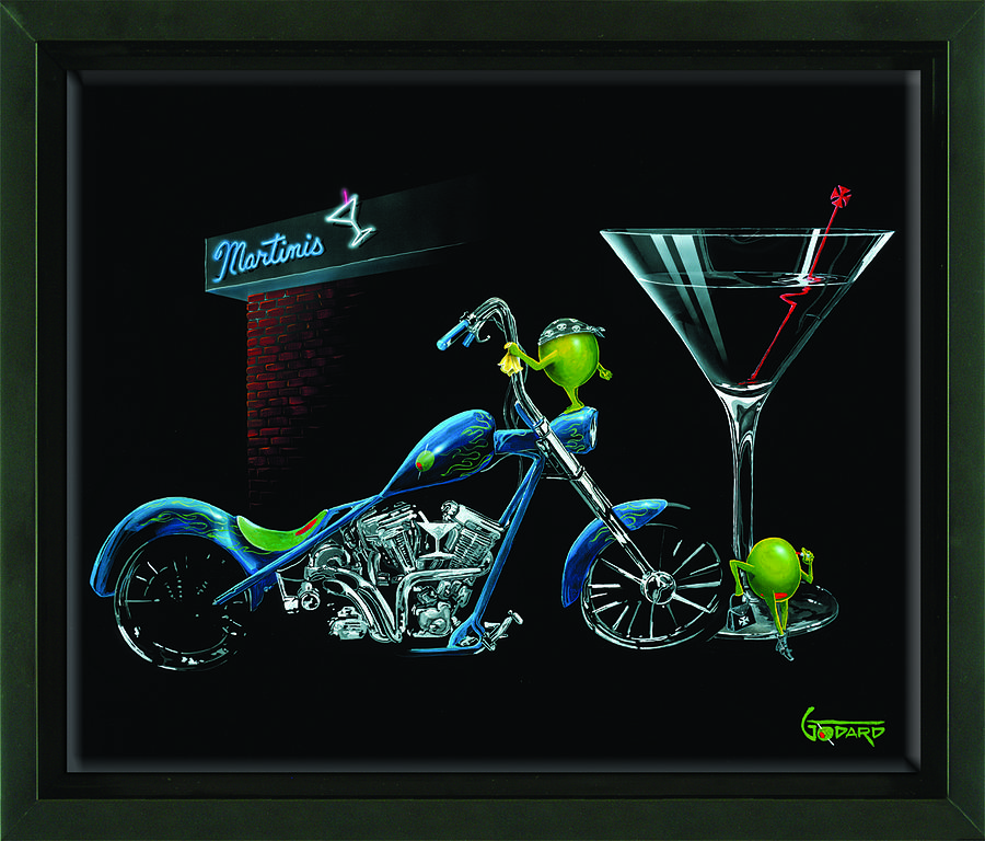 Chopper Painting - Custom Martini by Michael Godard