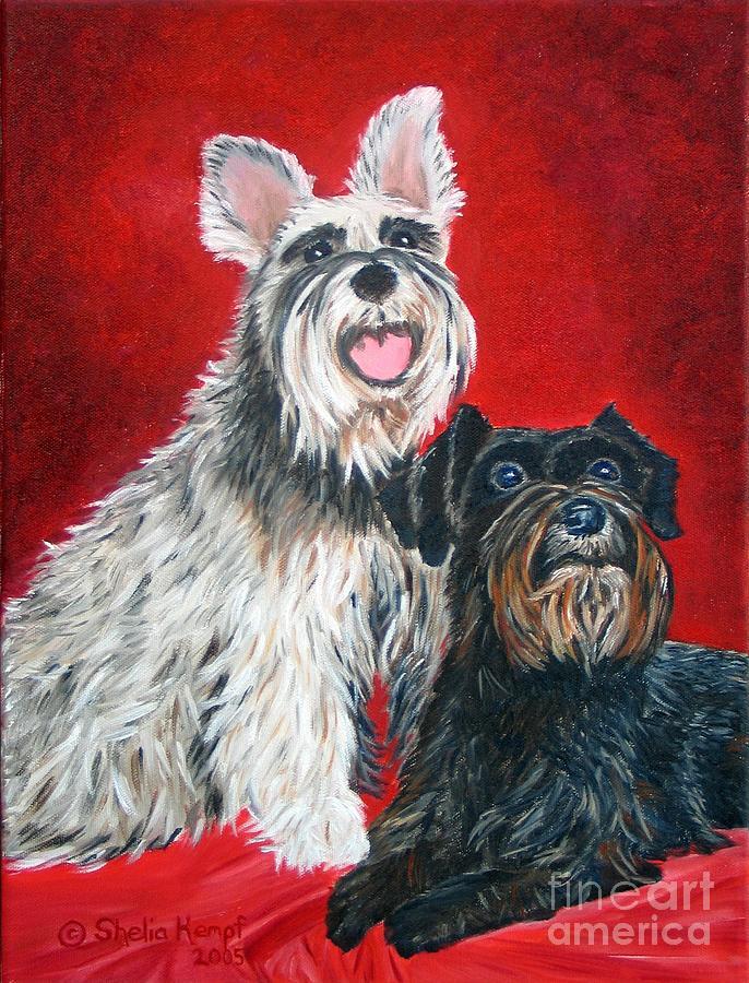 Animals Painting - Custom Pet Portraits by Shelia Kempf