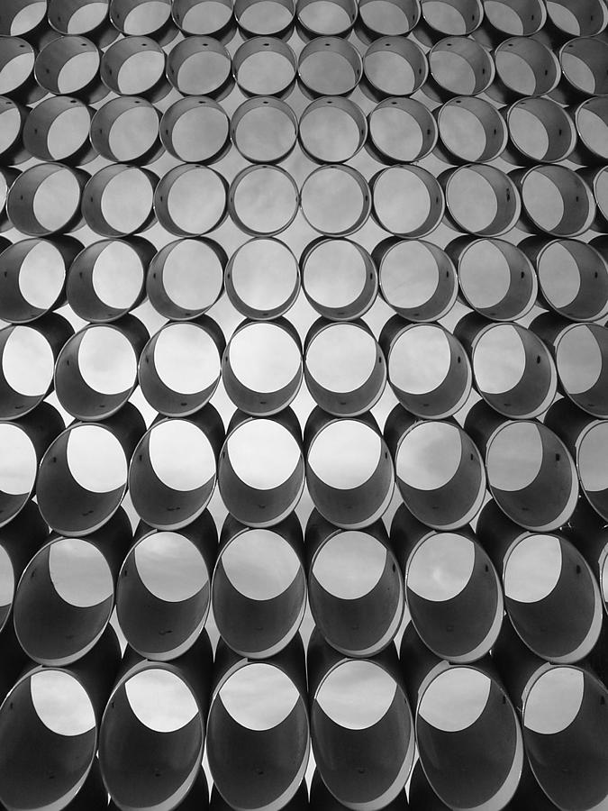 Black And White Photograph - Cut Tubes by Lisa Lieberman