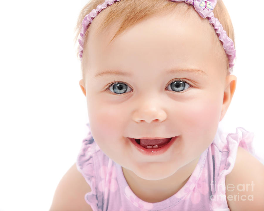 portrait of cute baby - photo #12