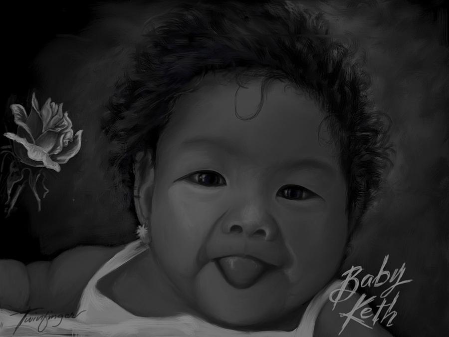 Baby Painting - Cute Baby by Twinfinger