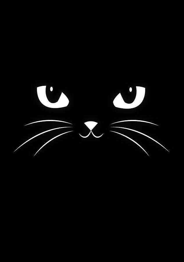 Cute Black Cat Digital Art