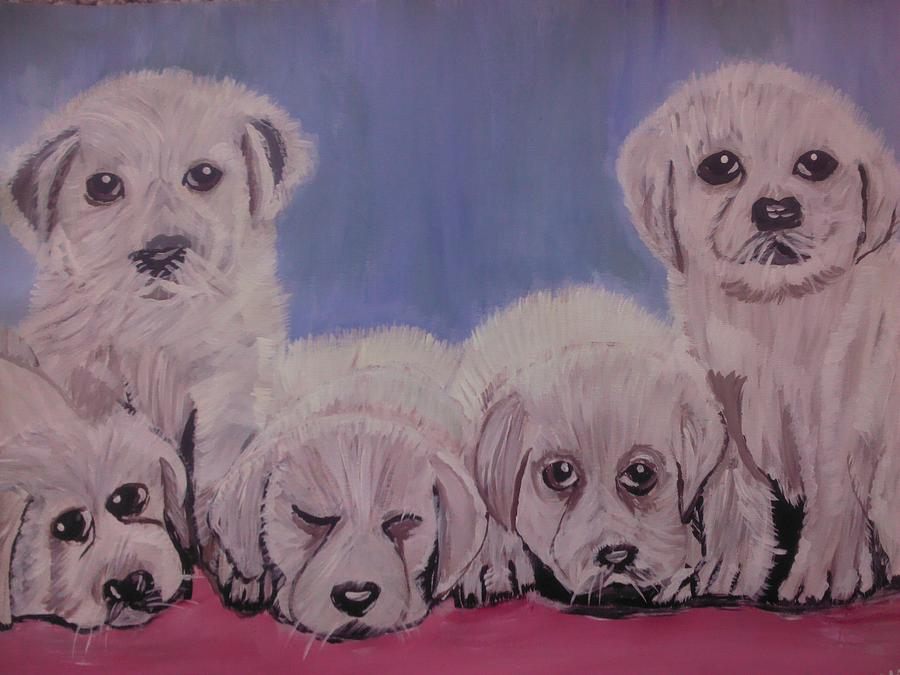 Cute Dogs Painting by Neha  Shah