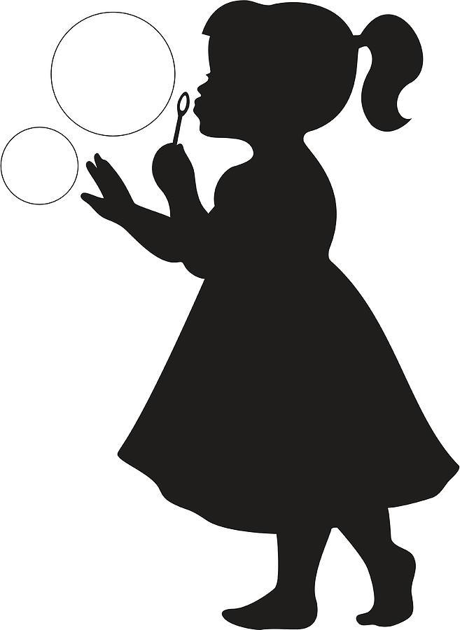 300a58f9803c Cute Little Girl Blowing Bubbles by SongSpeckels