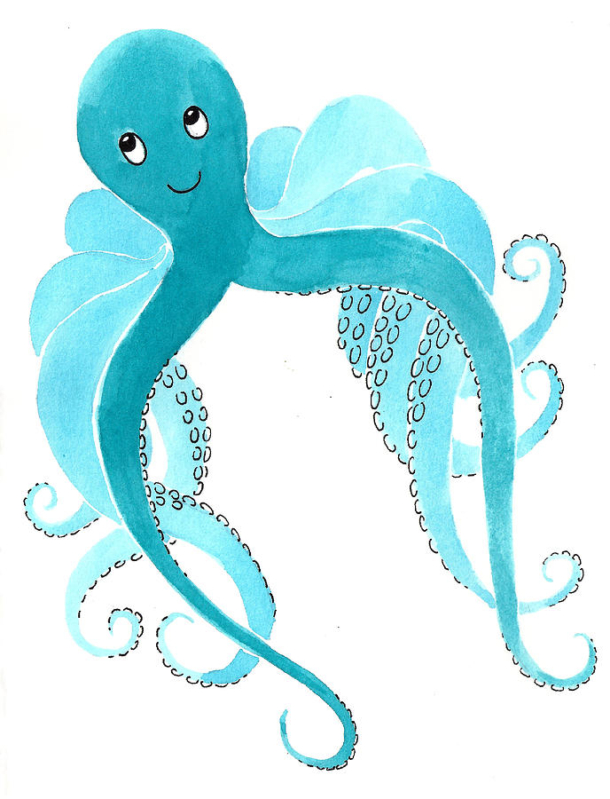 Cute Octopus Painting Painting