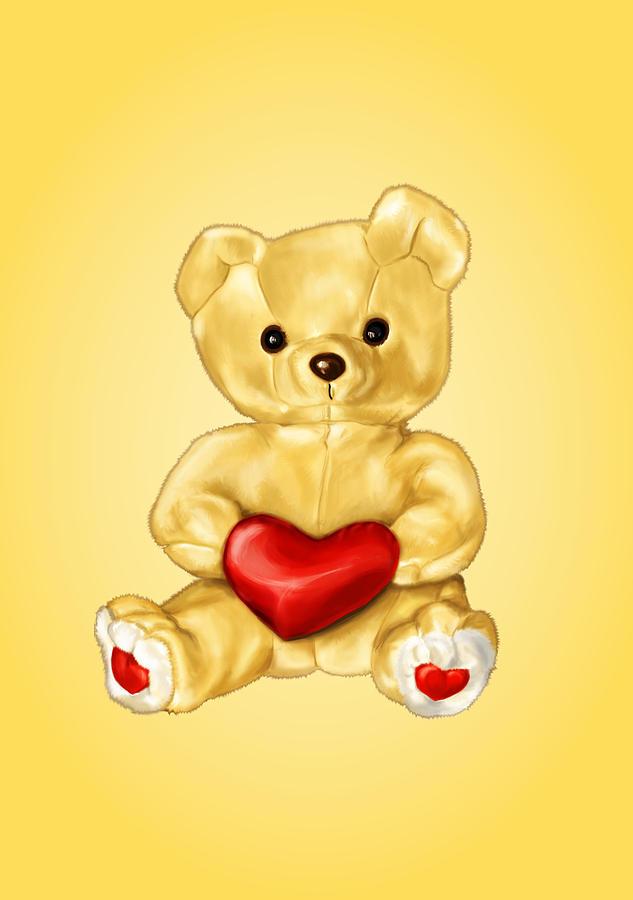 Cute Teddy Bear Digital Art - Cute Teddy Bear Hypnotist by Boriana Giormova