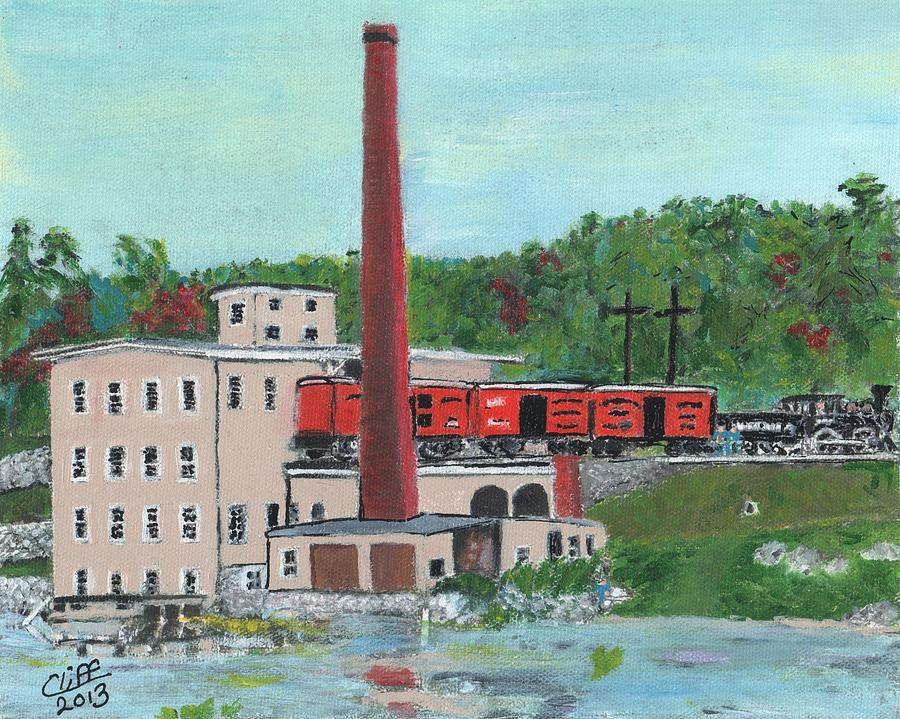 Reservoir Painting - Cutlers Mill - Circa 1870 by Cliff Wilson