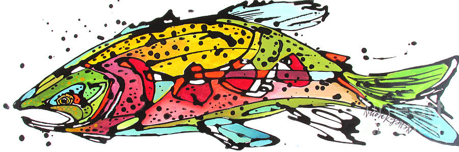 Cutthroat Trout Painting - Cutthroat Trout by Nicole Gaitan