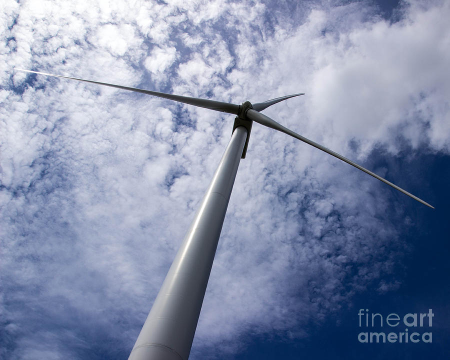 Windmill Photograph - Cutting The Sky by Laura Deerwester