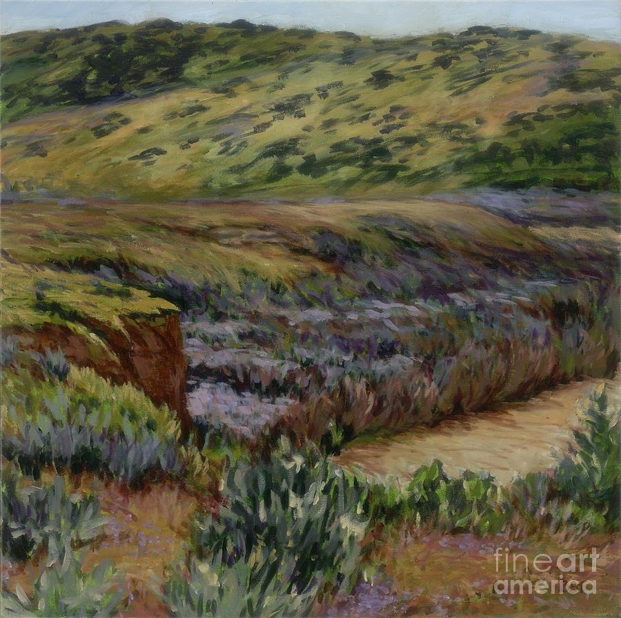 Landscape Painting - Cuyama Muddy by Betsee  Talavera