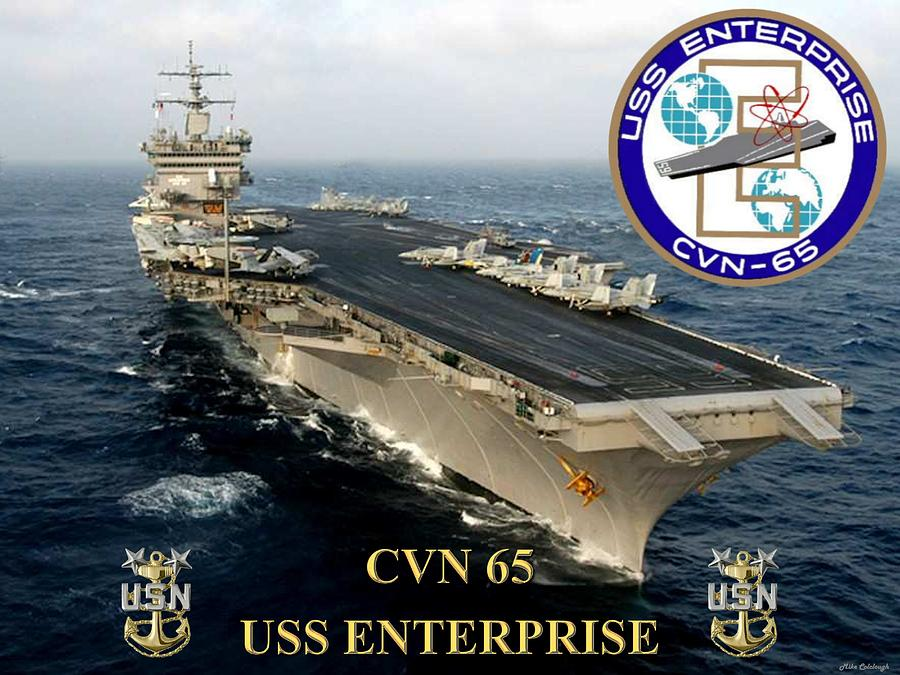 Cvn65 Digital Art - Cvn-65 Uss Enterprise by Mil Merchant