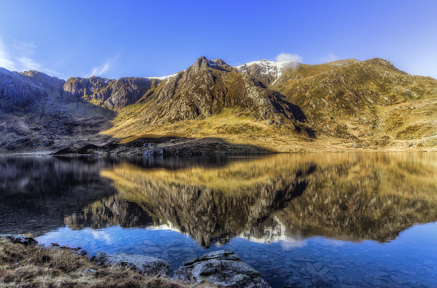 Clouds Photograph - Cwm Idwal by Ian Mitchell