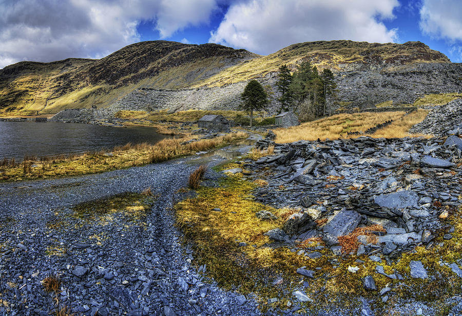 Clouds Photograph - Cwmorthin Landscape by Ian Mitchell