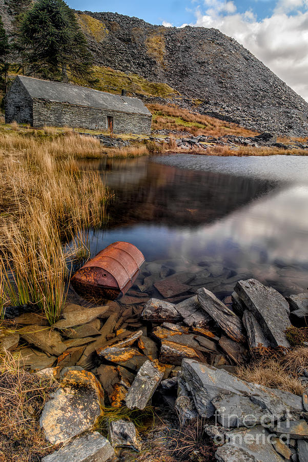 Abandoned Photograph - Cwmorthin Slate Quarry by Adrian Evans