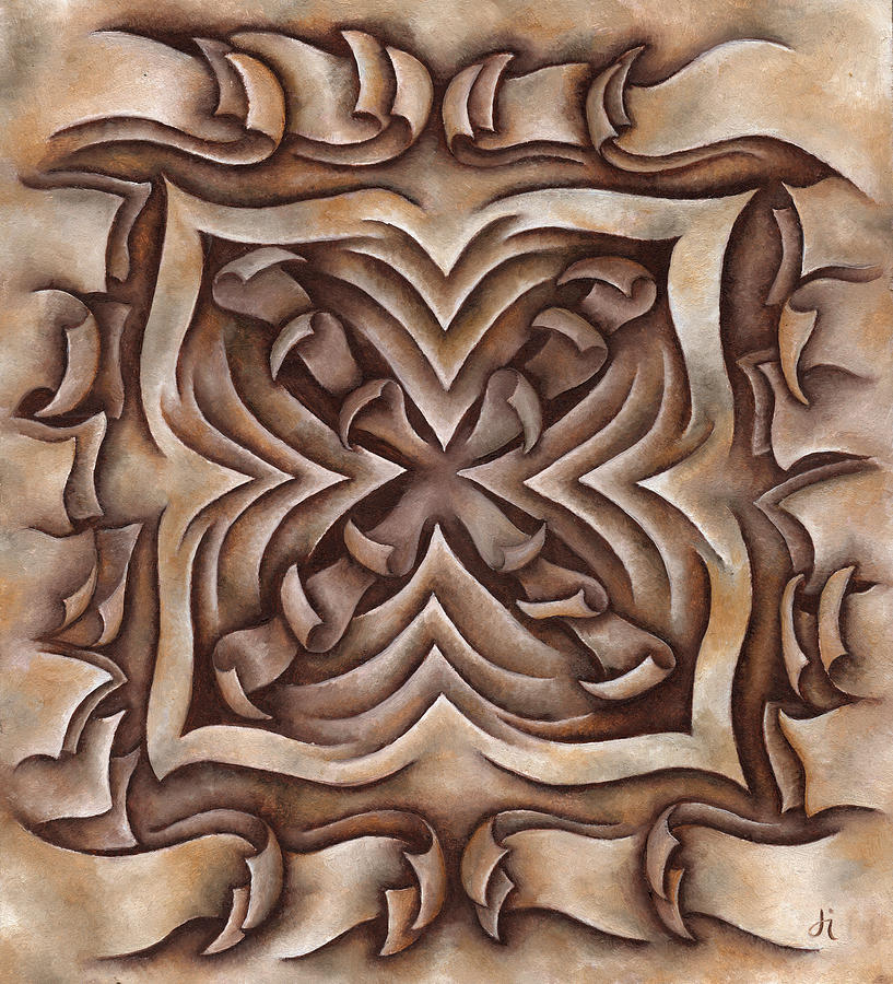 Brown Painting - Layers Cxciii by Diana Durr