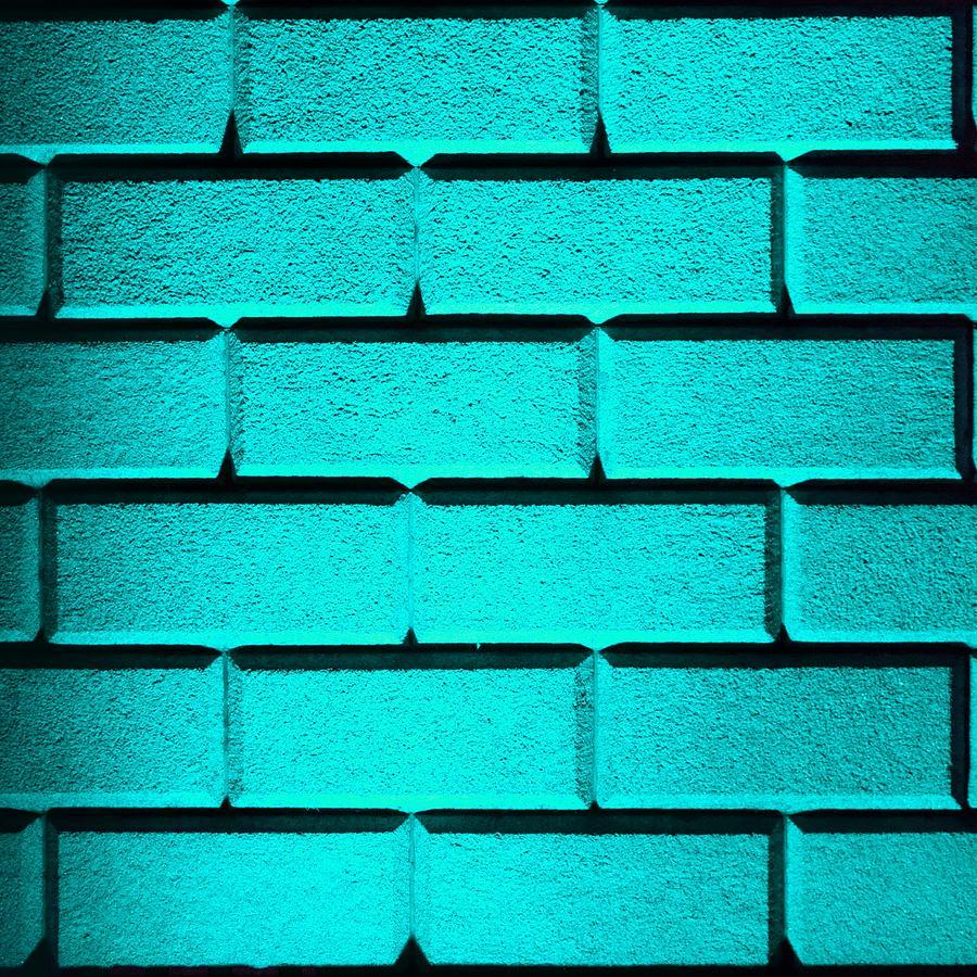 Cyan Photograph - Cyan Wall by Semmick Photo