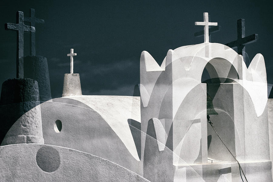 Cross Photograph - Cycladen Crosses by Hans-wolfgang Hawerkamp