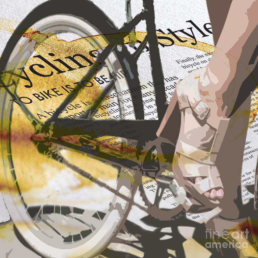 Retro Digital Art - Cycle Chic by Sassan Filsoof