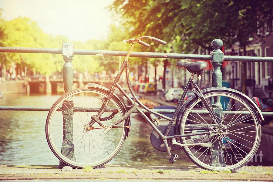Bike Photograph - Cycle In Sun by Jane Rix