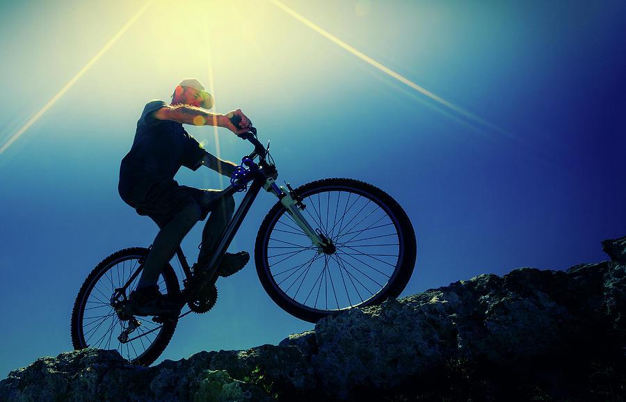 Outdoors Photograph - Cyclist On Bike by Wladimir Bulgar