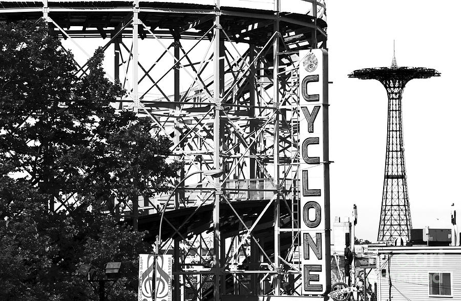 New York City Photograph - Cyclone At Coney Island by John Rizzuto