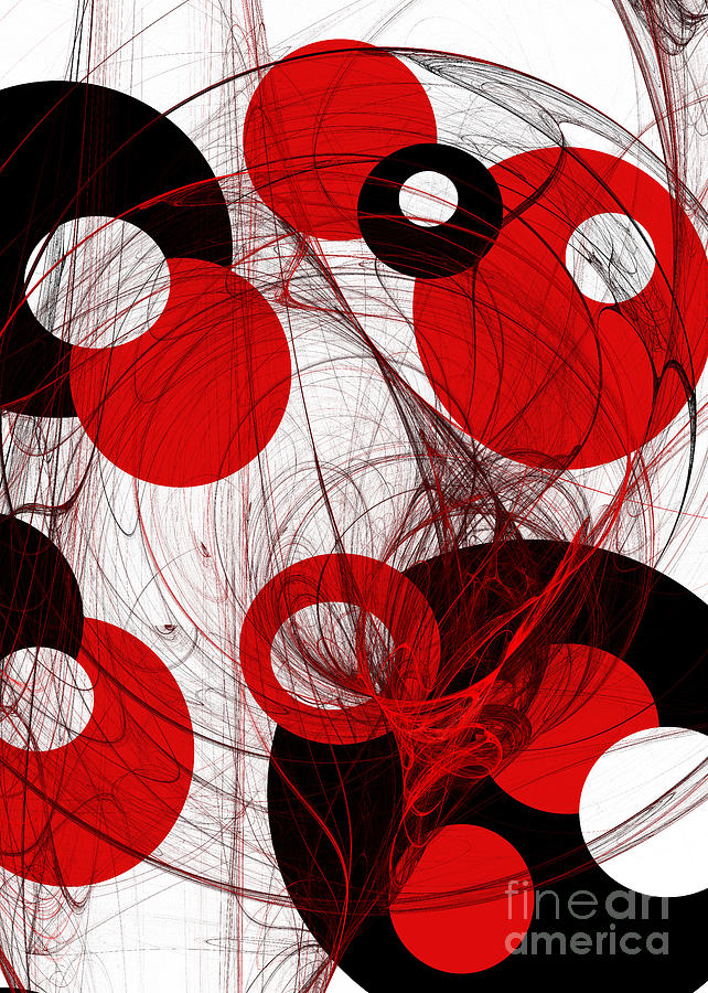 Abstract Digital Art - Cyclone Circle Abstract by Andee Design
