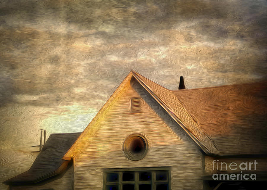 Old House Painting - Cyclops House by Gregory Dyer